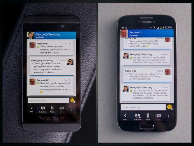 BBM conversation
