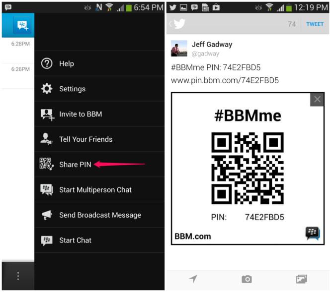 BBM 4 Share pin