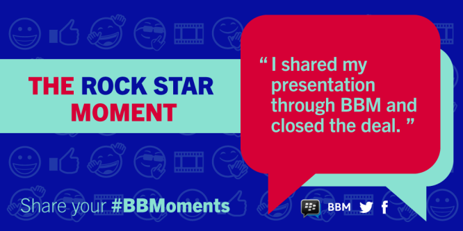 BBMoments example - Rockstar moment