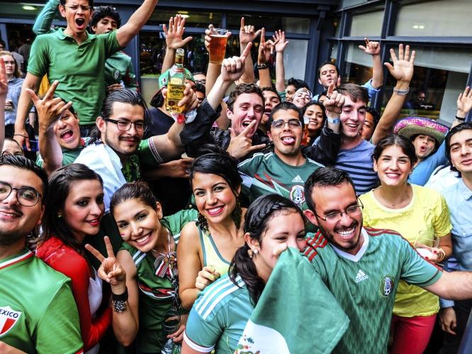 brazil mexican football fans