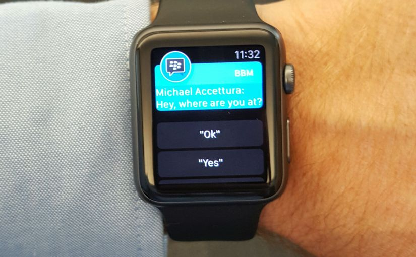 My New Favorite BBM Feature – Apple Watch Support