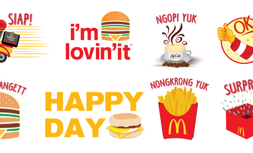 McDonald's Stickers Now Available on BBM and Indonesian Fans are Lovin'it