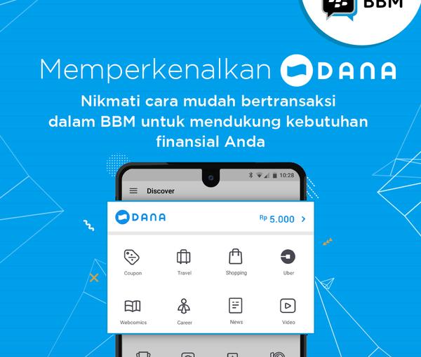 BBM Messenger dan DANA Luncurkan DompetElektronik