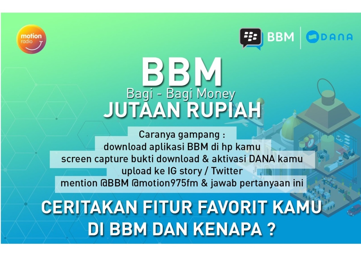 Dengerin Terus Motion Radio 97.5 FM Buat Menangin Jutaan Rupiah dari BBM Bagi-Bagi Money!