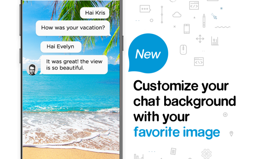 Customize Chat Background, New Features on BBM Desktop (Android), Official Accounts and More!