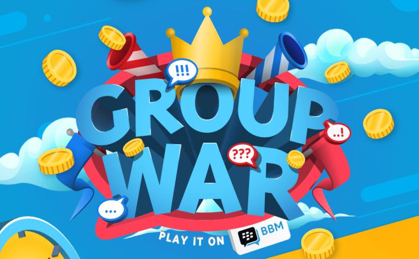 """Group War"" terbaru membawa kegembiraan di dalam grup! Update BBM terbaru juga menghadirkan Feeds yang interaktif, lebih mudah mengundang teman ke grup, dan masih banyaklagi!"