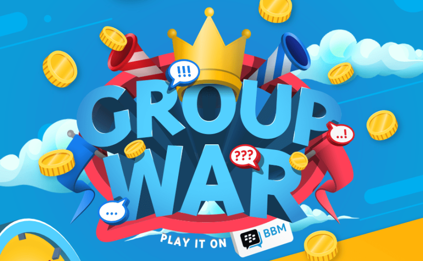 """New """"Group War"""" Brings Excitement to Groups! Latest BBM Also Brings Interactive Feeds, Easier Group Invites andMore!"""