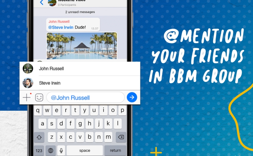 Newest BBM Brings @Mention Feature in Group, Video Post in Feeds for iOS, and More!